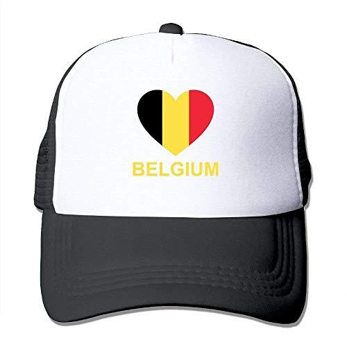 LLeaf Berretto da Baseball Classico, Berretto da Baseball con Cappello a Rete Regolabile Snapback Adulto Belgio Amore