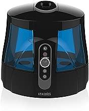 TotalComfort Warm & Cool Mist Ultrasonic Humidifier | 1.7 Gallon Tank, 80 Hour Runtime, Nightlight, Dual Tanks | Clean Tank Technology, BONUS 2 DEMINERALIZATION CARTRIDGES, Whisper-Quiet | HoMedics