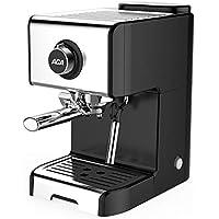 LinZX 20 Bar Espresso máquina semiautomática de Espuma de Limpieza Completa de Negocios Italiano pequeño Vapor MUTO,Black