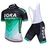 HOLISHITO Ciclismo maillot Traje Hombres Ropa de bicicleta manga corta Conjunto MTB Camisa + Culotte corto con tirantes...