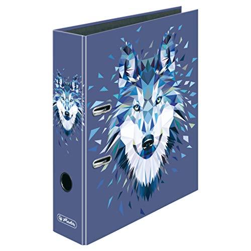 herlitz 50027309 Ordner maX.file, A4, 8cm, Motiv: Wild Animals Wolf, 1 Stück