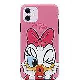 MC Fashion iPhone 11 Case, Cute Vibrant Matte IMD Cartoon Case, Slim Fit Black Bumper Full-Body Soft Protective TPU Case for Apple iPhone 11 6.1 inch 2019 (Kiss Daisy Duck)