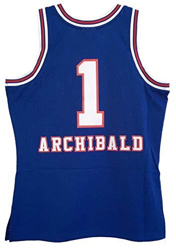 Mitchell & Ness Nate Archibald Kansas City Kings Men's Blue 1975-76 Swingman Jersey (2X-Large)