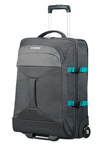 AMERICAN TOURISTER Road Quest - 2 Compartments Wheeled Duffle 55/20 Bolsa de viaje, 55 cm, 40 liters, Gris (Grey/turquoise)