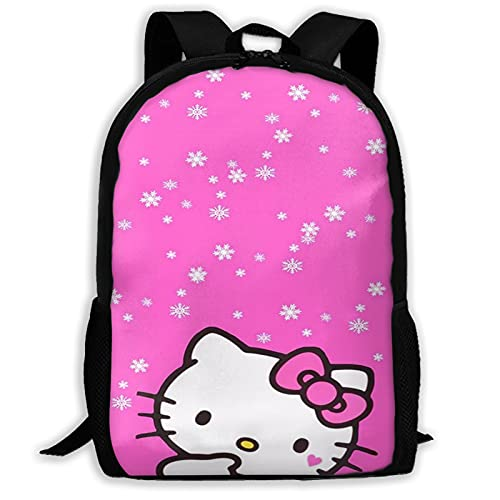 Linda Hello Kitty (3) Bolsas de la Escuela Mochila de Senderismo Mochila Escolar Mujeres Hombres