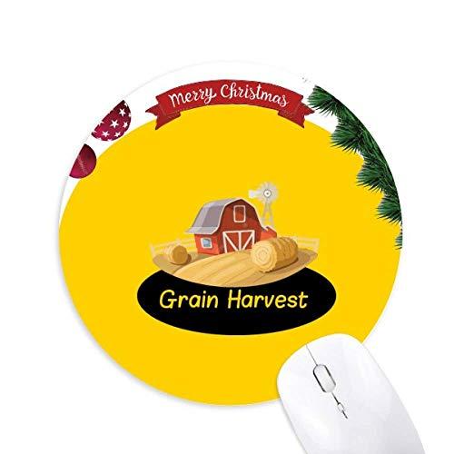 Mittsommerliches Essen Joy Harvest Round Rubber Maus Pad Weihnachtsbaum Mat