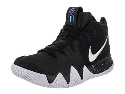 Nike Men's Kyrie 4 Basketball Shoes (12, Black/White/Blue)