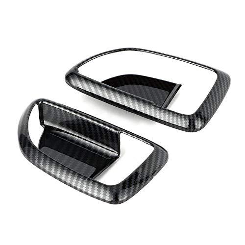 vitesurz 2 Piezas de Ajuste de manija de Puerta Interior de Fibra de Carbono para Hyundai Grand Starex H1 2019
