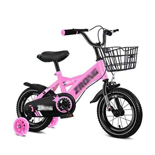 GLJ Vélos enfantsVélo Enfant,12/14/16/18 Pouces,3-4-5-6-7-8 Vélos pour Garçons Et Filles,avec Un Panier,3 Couleurs Disponibles(Size:12-2)