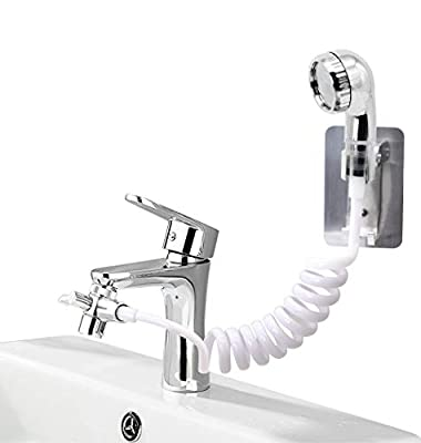 SINLOON Sink Faucet Rinser Hose Sprayer Washing Pet Hair in The Sink & Bathtub Powerful Shower Head for Utility Room, Bathroom, Laundry Tub (1)