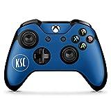 DeinDesign Skin kompatibel mit Microsoft Xbox One X Controller Folie Sticker KSC Karlsruher SC Offizielles Lizenzprodukt