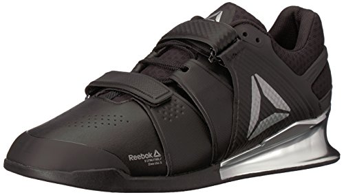 Reebok Men's Legacy Lifter Cross Trainer, Black/White/Silver, 8 M US