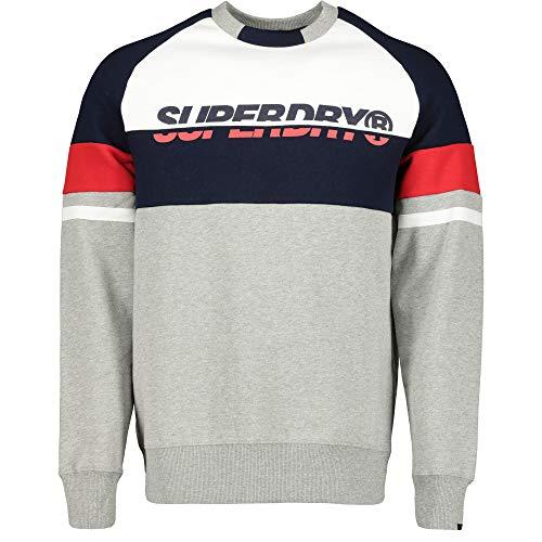 Superdry Racer Print Crew Sweatshirts und Fleecejacken Herren Grau - XXL - Sweatshirts