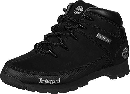 Timberland Herren Euro Sprint Hiker Chukka Boots, Schwarz (Black Nubuck), 42 EU