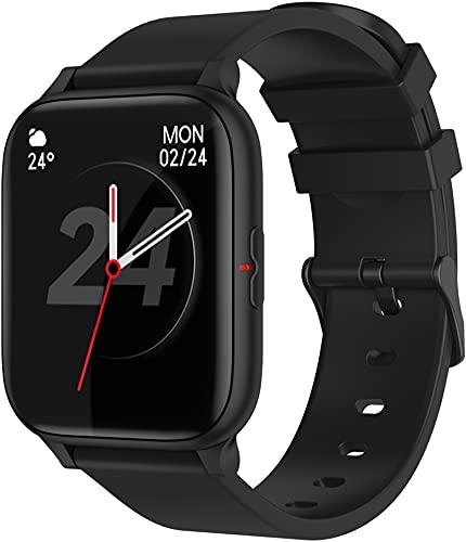 Bluetooth Smart Watch 1.69 Zoll Touchsreen Aktivitätstracker Herzfrequenz Schlafindex Pulsuhr Smartwatch Großer Display Message Notifications Schrittzähler Periode Unisex Fitnessuhr Musik Kamera