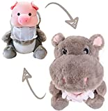 Cute Pig Stuffed Animals Cosplay as Hippo Plush Toys Soft Pig Toy in Hippopotamus Costume, Great Plushies Toys Stuffed Animal for Birthday, Valentine, Christmas