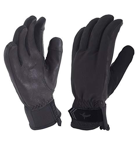 SealSkinz Unisex Waterproof All Season Gloves, Black/Charcoal, L