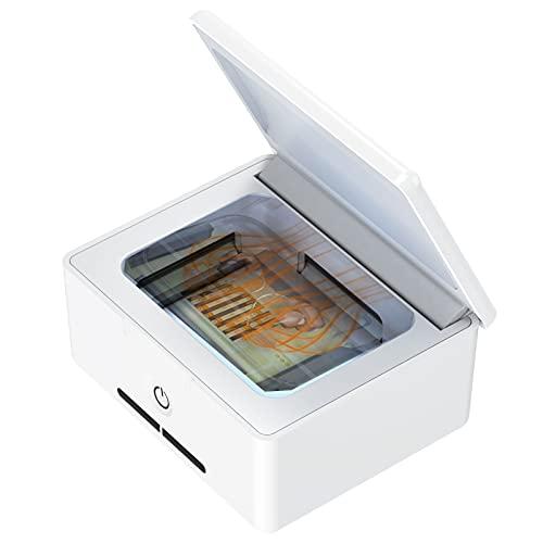 Secador de audífonos Multifuncional, deshumidificador para audífonos, desinfectante eléctrico UV, Estuche seco para audífonos,...