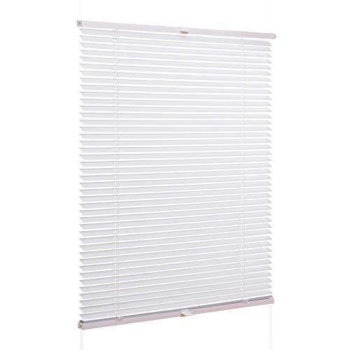 Ventanara Jalousie Aluminium ohne Bohren Weiß inklusive Montagematerial 70 x 130 cm
