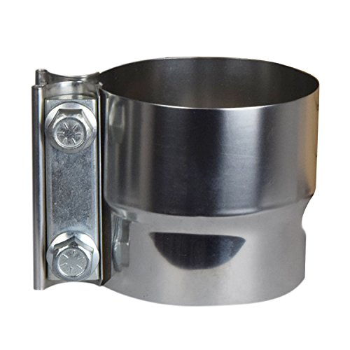 "Roadformer 2.5"" Lap Joint Exhaust Band Clamp - Preformed Stainless Steel for 2.5"" ID to 2.5"" OD Exhaust Pipe Connection"