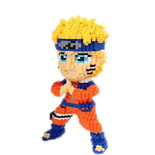 VSUK Bausteine Anime Charakter Modell Baustein Set 2000+PCS Nano Mini Blocks DIY Spielzeug, 3D Puzzle DIY Lernspielzeug, Einfach Zu Greifen, Thanksgiving Halloween Black Friday,Naruto