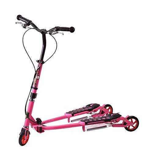 MOM Patada de scooter deportivo al aire libre, patinete para niños mayores de 6 años, rueda de la pu Empujar Swing Slider Wiggle Trike Striker Drifter Scooter para niños, niños niñas niño juguete Bal