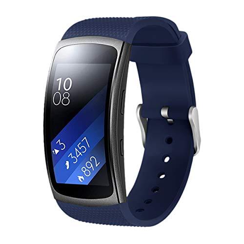 Hemobllo 1 pulseira de relógio de silicone de substituição compatível com Samsung Gear Fit2 Pro (azul)