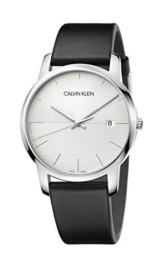Calvin Klein Herren Analog Quarz Uhr mit Leder Armband K2G2G1CD