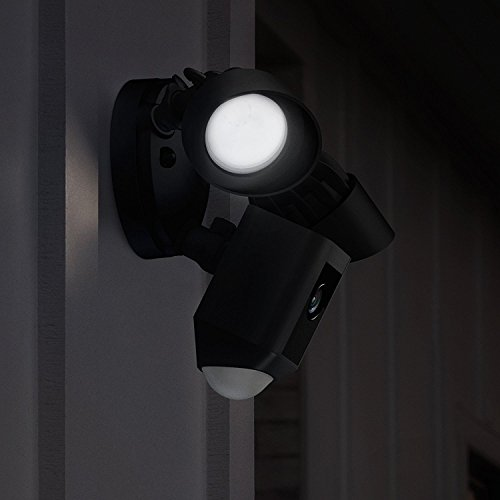 Ring Floodlight Cam by Amazon   HD Security Camera with Built-in Floodlights, Two-Way Talk and Siren Alarm   With 30-day free trial of Ring Protect Plan