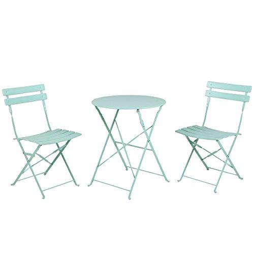 Grand patio Conjunto de Mesa y sillas Plegables para Exterior, Ideal para...