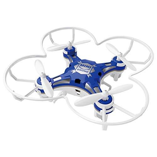 Faironly FQ777 124 RC Drone Micro Pocket Drone 4CH 6 Achsen Gyro Umschaltbarer Controller Mini Quadcopter RTF RC Hubschrauber Kid Spielzeug Blue (dual mode)