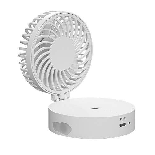 Asamio kreativer USB-Luftbefeuchter zum Aufhängen, Mini-Ventilator, weiß, 82 * 76 * 42mm