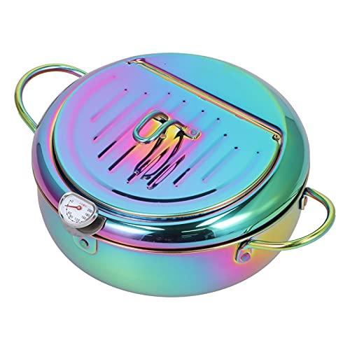 Friggitrice da cucina, utensili da cucina Capacità 3,4 litri Acciaio inossidabile Facile da pulire Manico antiscottatura Pentola per hotel per casa per ristorante(Sinfonia)