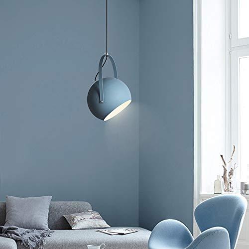 Asncnxdore Tetera LED Lámpara De Techo Araña De Aluminio Azul Gris Rosa Amarillo Luz Cálida Comedor Sala De Estar Estudio Dormitorio Pasillo Balcón Moderno Macarons Minimalistas (Color : Blue)