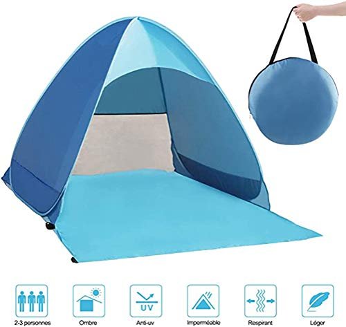 Pop Up Tent Camping Shelters Foldable Anti-UV Beach Sun Shelter Camping Tent Canopy Outdoor/Indoor (Blue #2, 160 * 150 * 110CM)