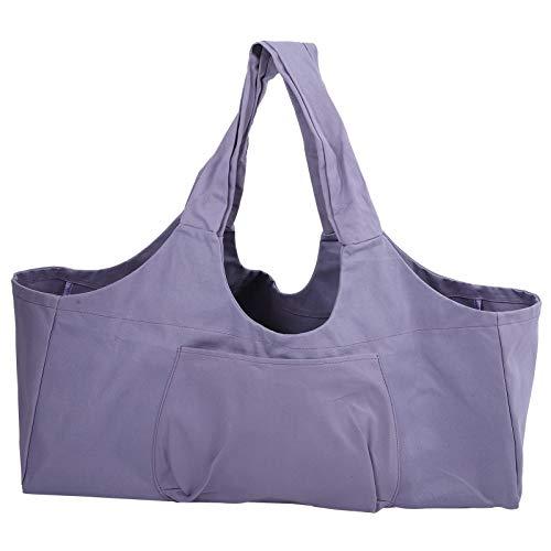 Kuuleyn Paquete de Yoga, Gran Capacidad Paquete de Yoga de Gran tamaño Equipaje Almacenamiento de Ropa Deportiva Bolso de un Solo Hombro(púrpura)