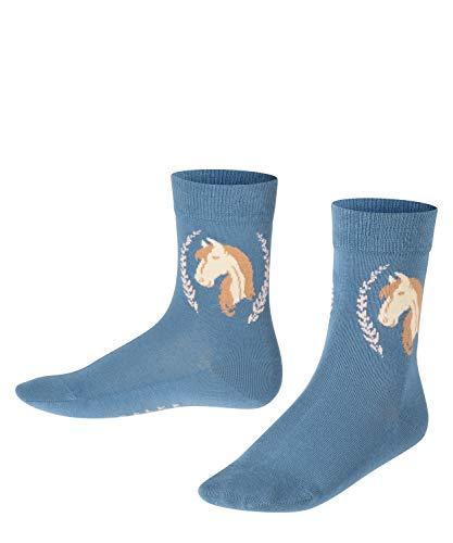 FALKE Unisex Kinder Horse K SO Socken, blau (denim 6062), 27-30 (3-6 Jahre)