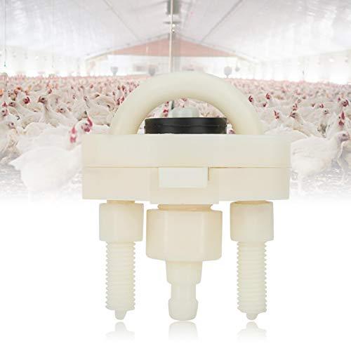 Emoshayoga Accesorio para Bebedero de Pollo Conveniente Interruptor automático para Bebedero de Pollo Que Ahorra energía 10 Piezas para Uso de gallina, Ganso y Pato