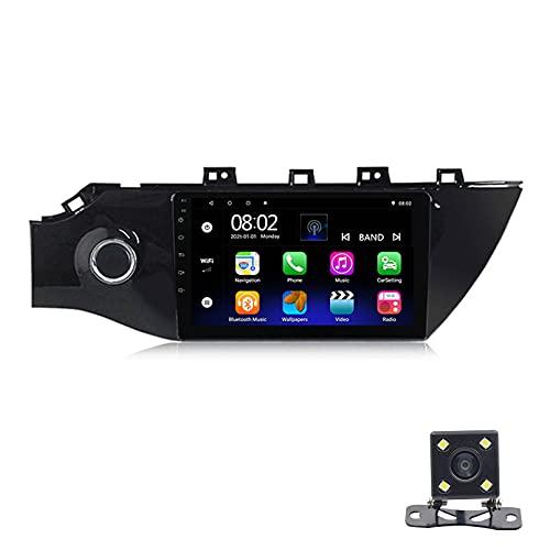 STTTBD 9'Android 10.0 2.5D Pantalla Táctil Radio Estéreo para Automóvil Navegación por Satélite, para Kia K2 2016-2018 Soporte Bluetooth WiFi GPS Reproductor Multimedia Autoradio(Color:WiFi 4G+64G)