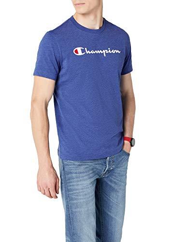 Champion Classic Logo Camiseta, Azul, S para Hombre