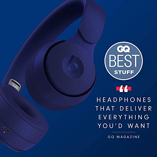 Beats Solo Pro Wireless Noise Cancelling On Ear Headphones Apple H1 Headphone Chip Class 1 Bluetooth Active Noise Cancelling Transparency 22 Hours Of Listening Time Dark Blue Gear Up To Fit