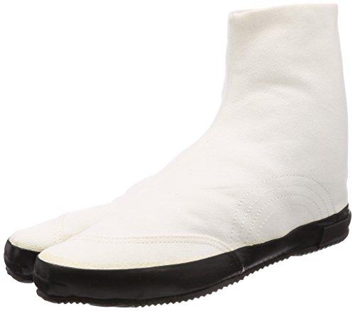 [ムーンスター ライフスタイル] キャンバススニーカー 国産 地下足袋 バルカナイズ製法 JIKATABI ホワイトブラック 22.0 cm 2E