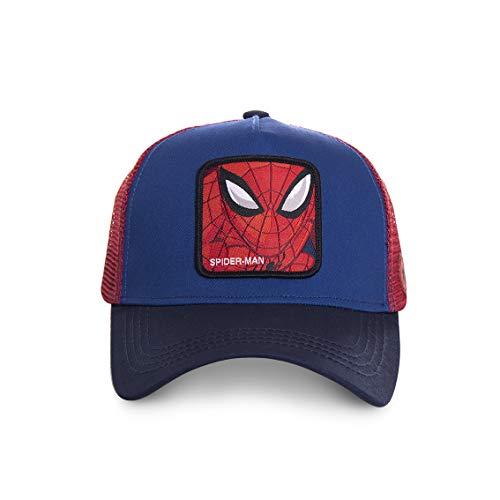 Marvel Jungen Trucker Cap Avengers Spider-Man Iron Man Hulk Captain America Comic Superhelden Druck 1er Pack Schwarz Weiß Blau, Farbe:Motiv 4 (CL/MAR/3/SPI1)