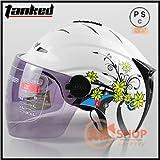 バイクヘルメット T502 ヘルメット ジェット 半キャップ 半帽 ハーフ レディース メンズ!PSC付き【商品10/Mサイズ】