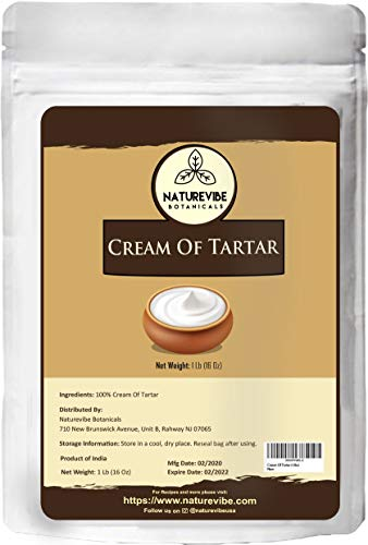 Naturevibe Botanicals Cream Of Tartar, (1lbs) | Non-GMO, Gluten Free and Food Grade | Baking Agent and Household Cleaner