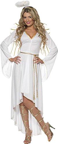 Disfraz de Navidad traje fiesta de disfraces mujer disfraz de ángel blanco