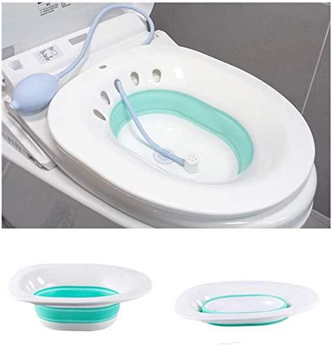 QAZXCV Folding WC Sitz Schwangere Frauen Spezielle Waschtisch Badewanne Einweichen Für Schwangere Frauen Hämorrhoiden Patient Care Becken Badewanne,A