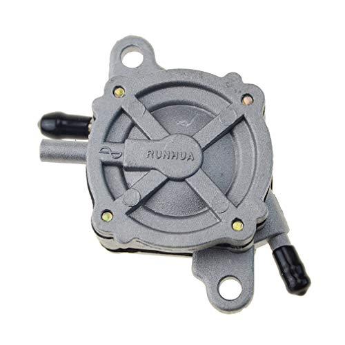 WOOSTAR 139QMB Vakuumkraftstoffpumpe Benzinhahn Schalter Ersatz für GY6 50ccm 70ccm 90ccm 110ccm 125ccm 150ccm 200ccm 250ccm Roller 157QMJ Motor Silver