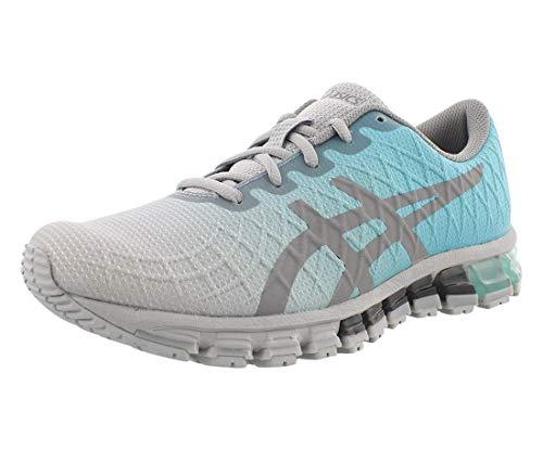 ASICS Gel-Quantum 180 4 - Tenis de correr para mujer, azul (menta hielo/gris piedra), 40.5 EU