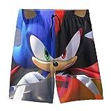 Sleyrrison Sonic The Hedgehog Youth Boys' Shorts Summer Beach...
